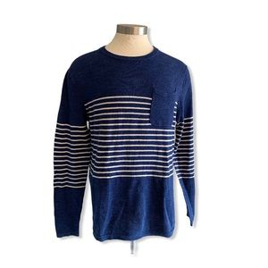 J. Crew Beach Sweater 100% cotton Striped